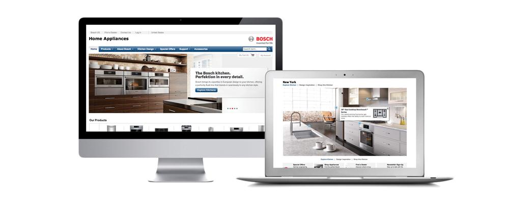 BOSCH | luxury home kitchen appliances | print, digital, web, digital, advertising design