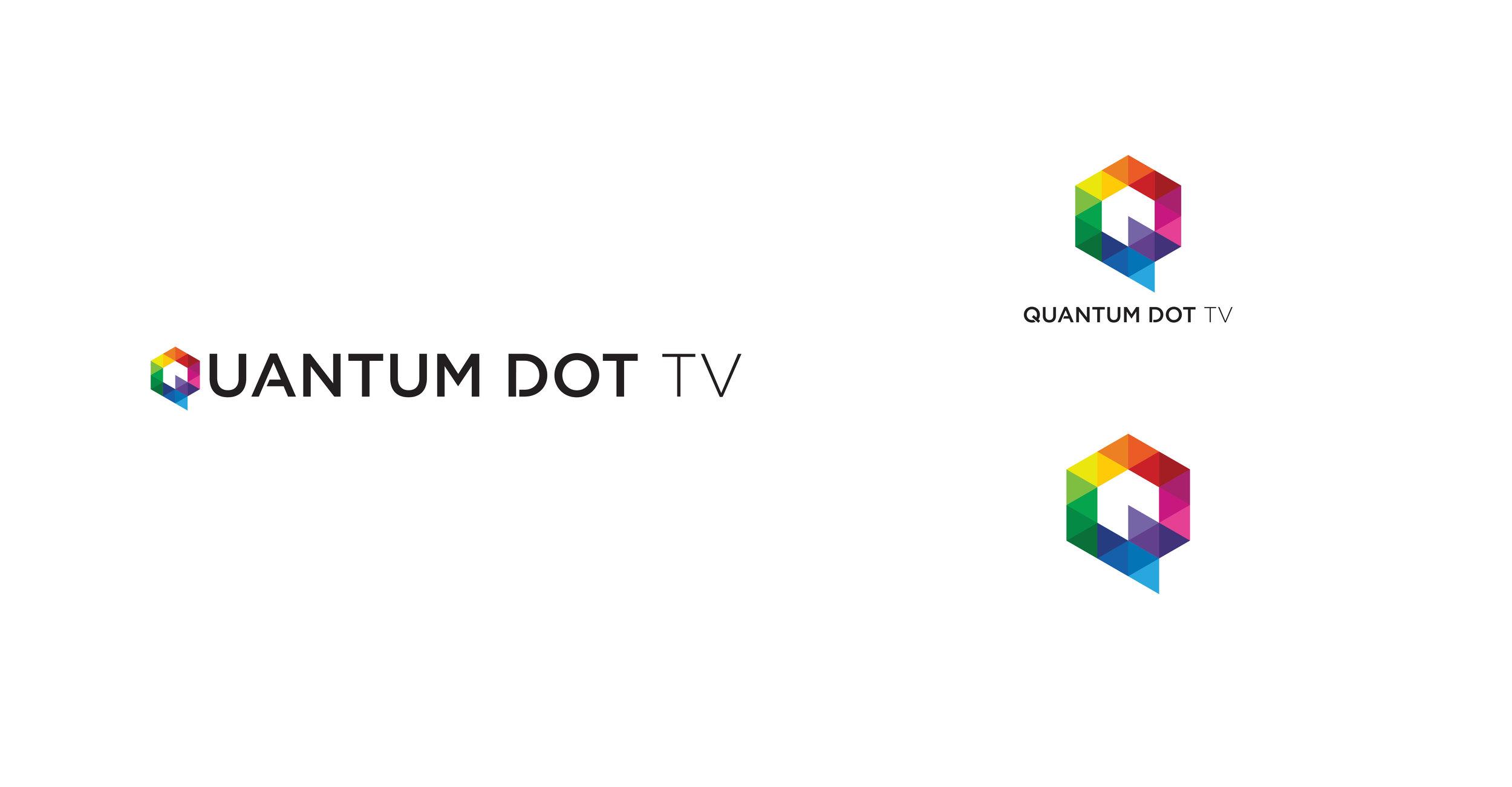 LOGO DESIGN | quantum dot tv product | modern colorful branding