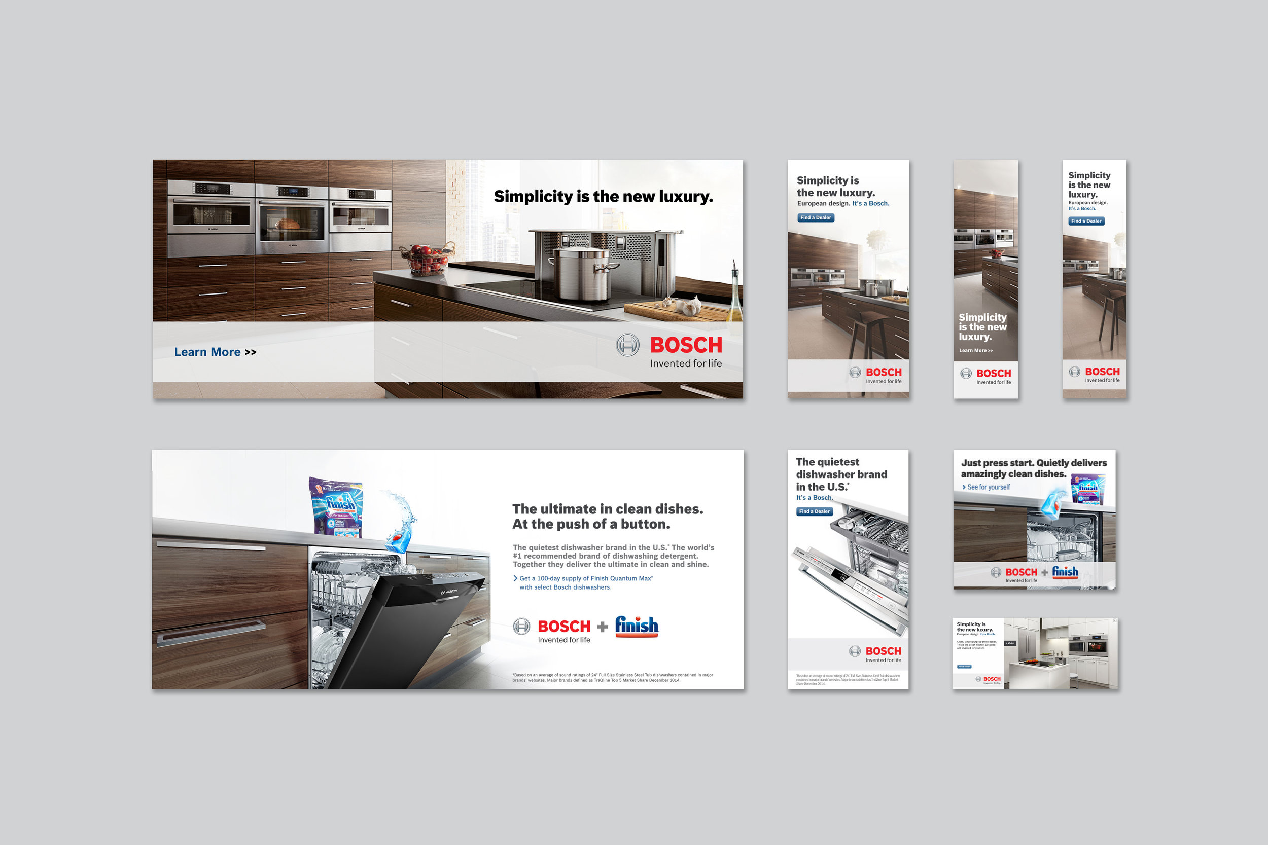 BOSCH | luxury home kitchen appliances | digital banner ads for global campaign