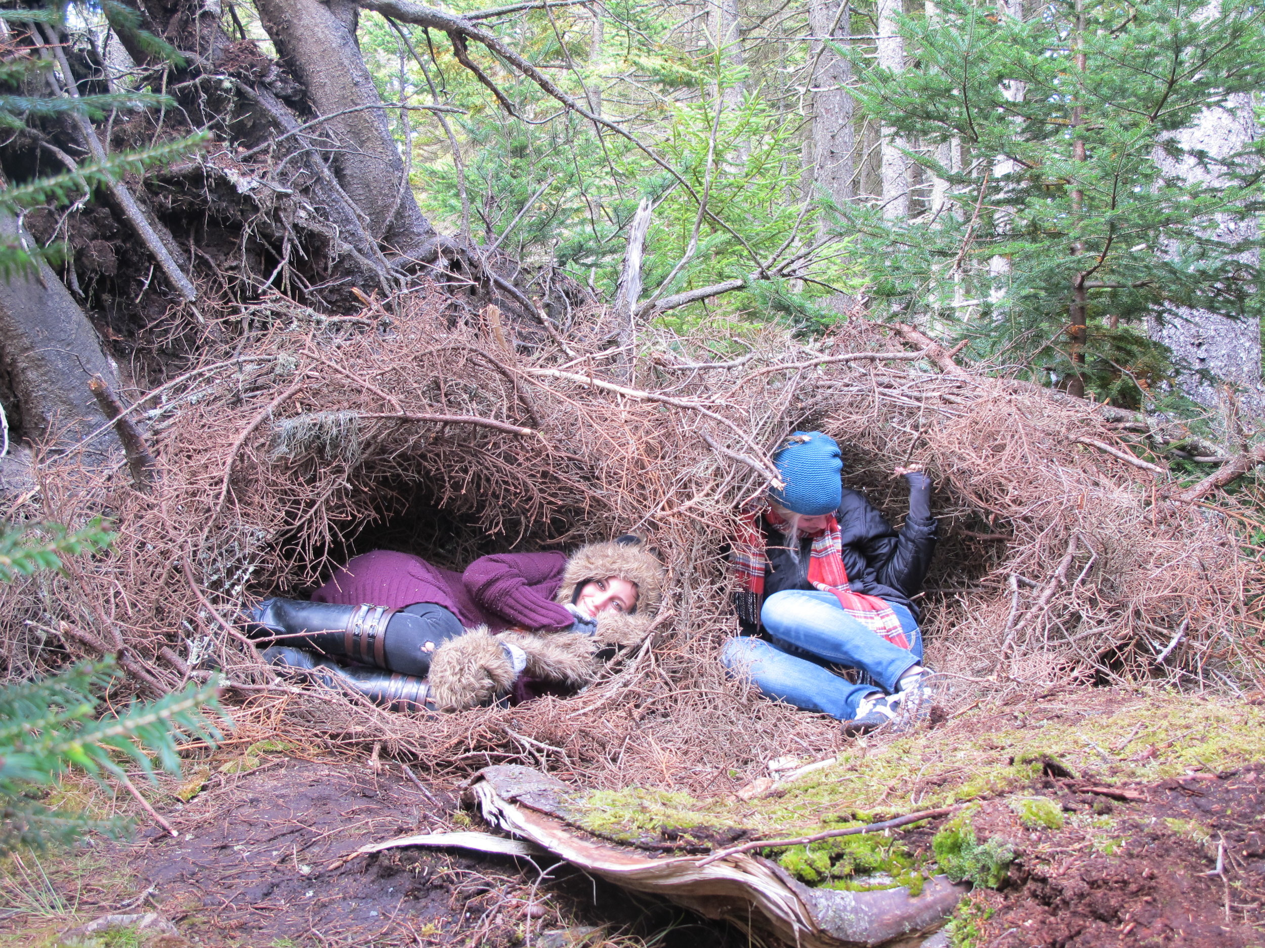 making giant nests with Yolanda Cavicchio at Haystack Mountain School of Crafts in 2013