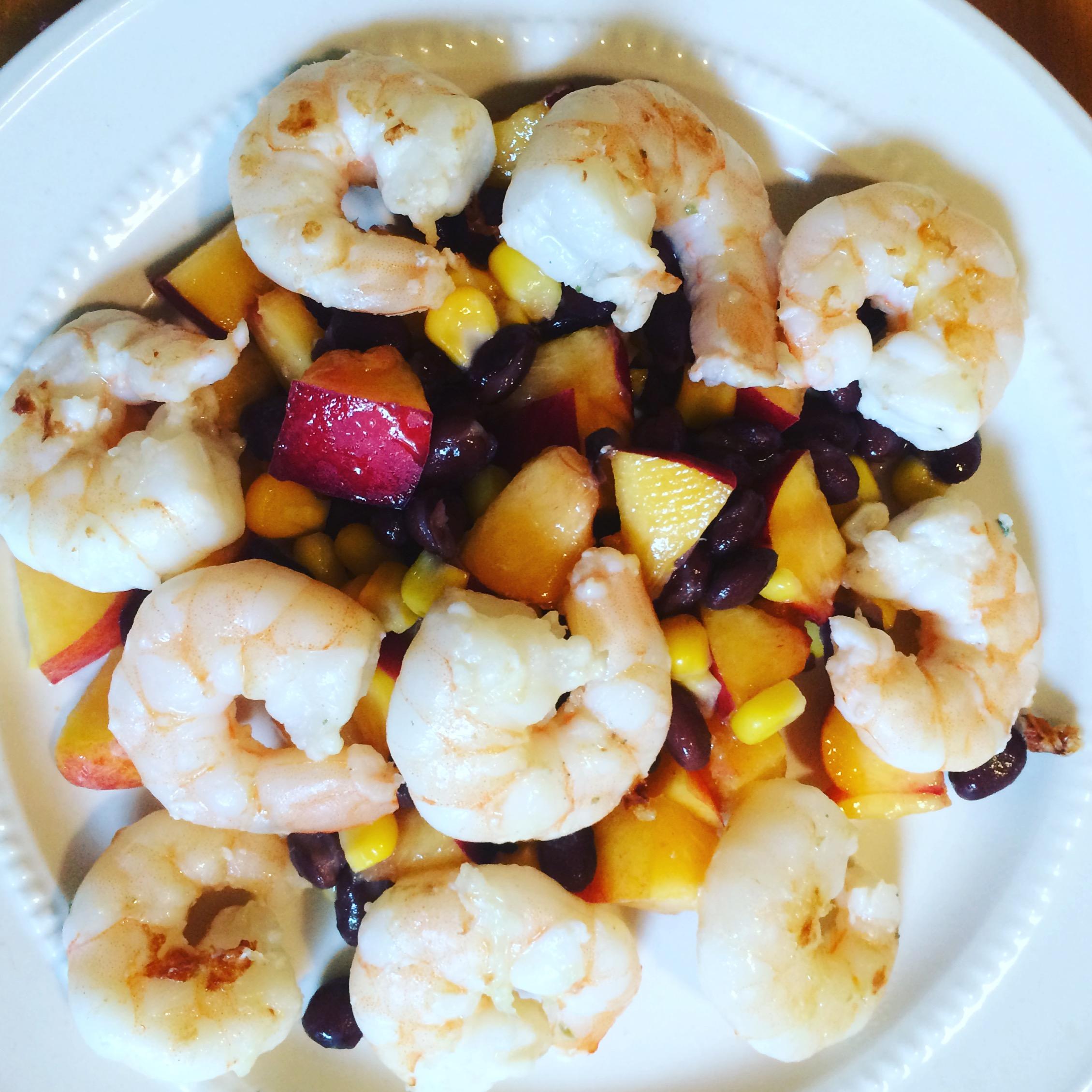 Endodiet Friendly: Grilled Shrimp with a Black Bean, Nectarine Salsa