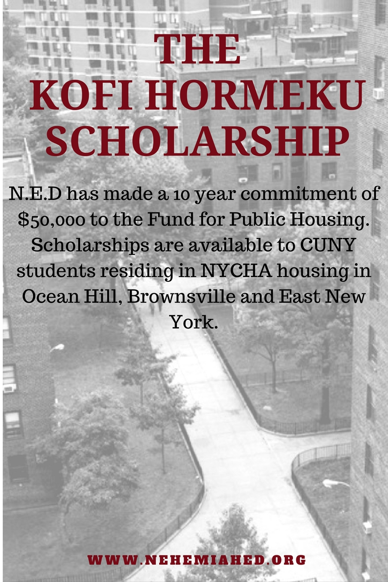List of Eligible NYCHA Public Housing Developments Below.