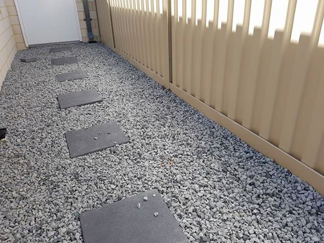 Keeps your paving and gardens from washing away under the fence.