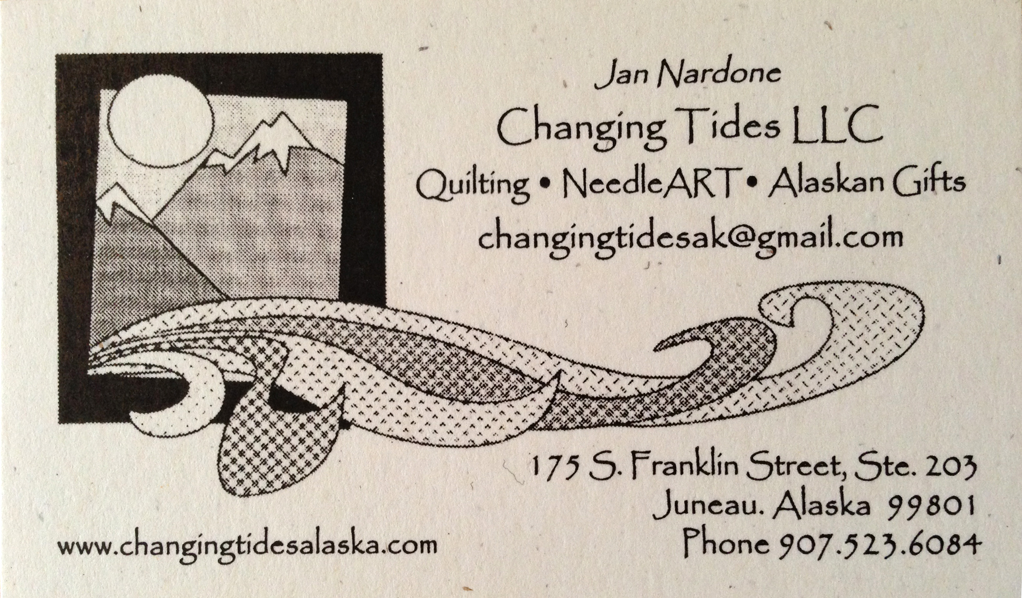 Changing Tides business card