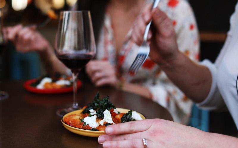 No Mafia  Vino Rosso Gnocchi, 24 hour tomato sugo, cavolo nero, buffalo mozzarella