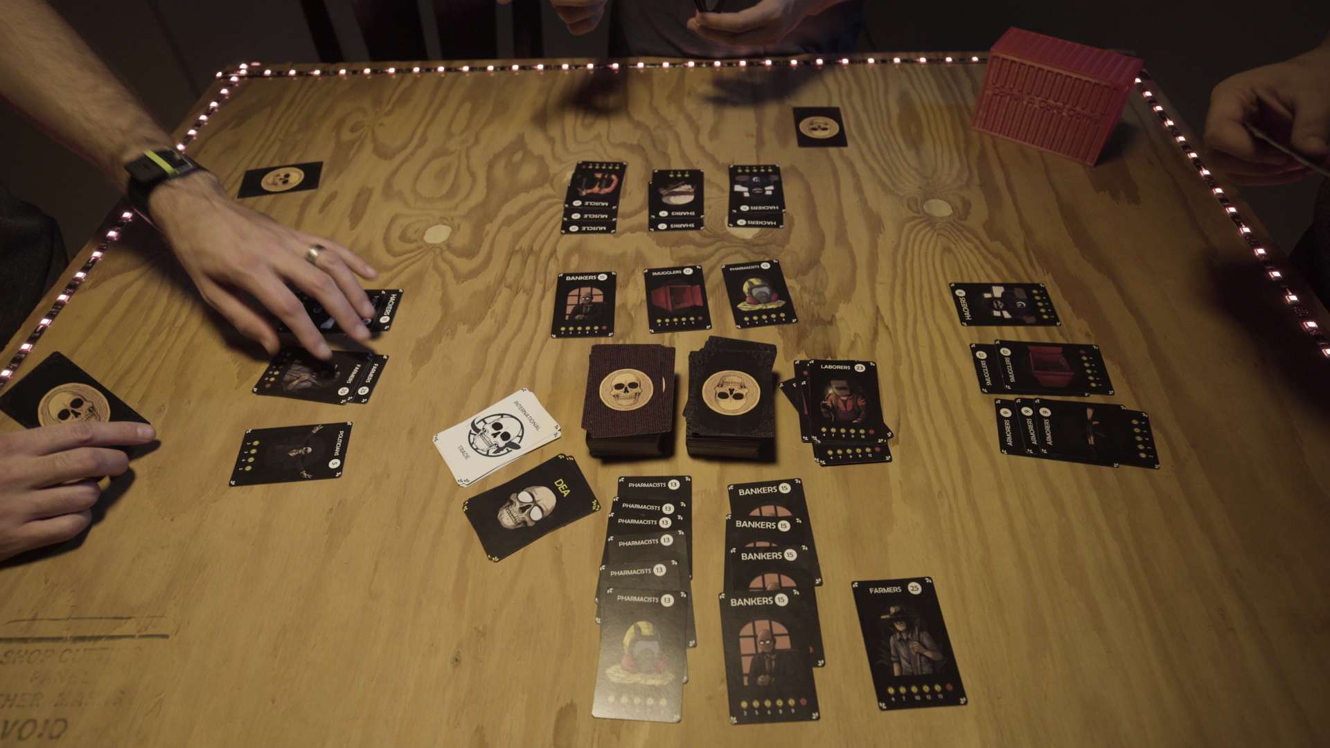 A tabletop card game where opponents compete to earn the most Cryptocurrency on the Black Market. -