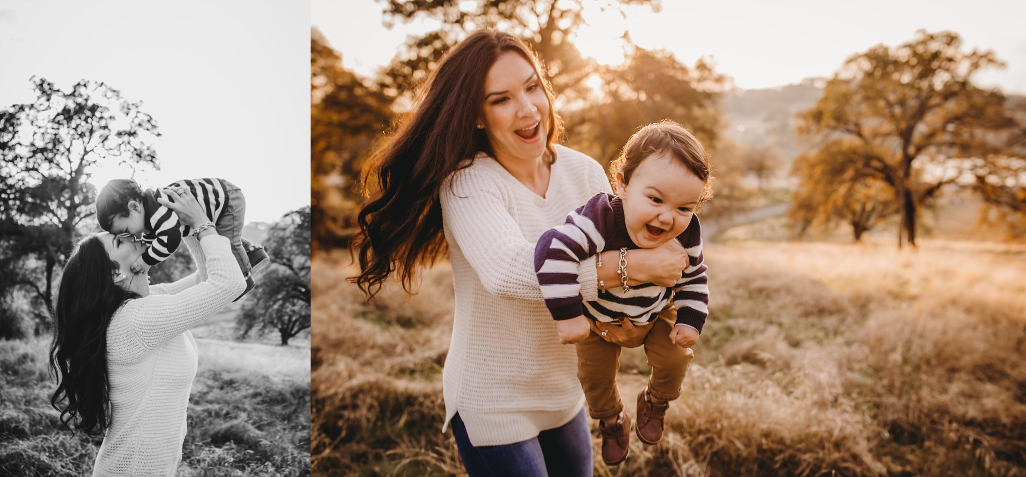 Mom and son playing, sun, family, Becci Ravera Photography