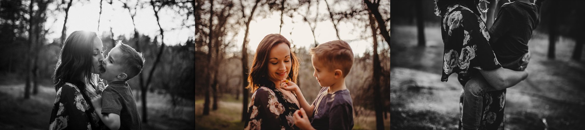 Mom and son smiling hugging Becci Ravera Photography