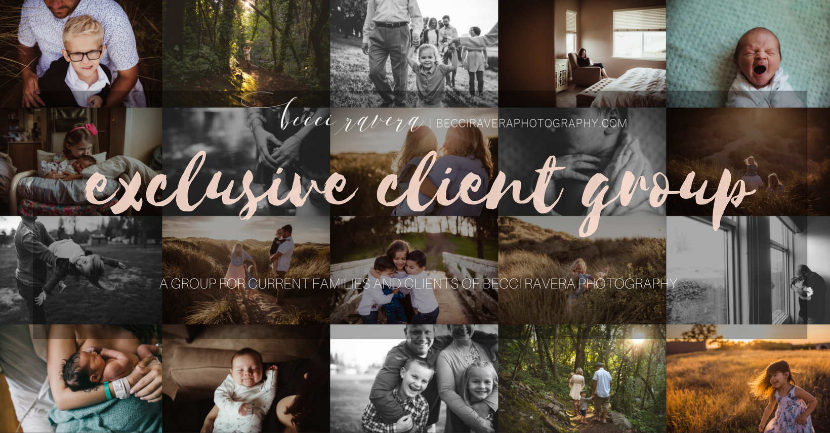 Becci ravera Photography Exclusive client group