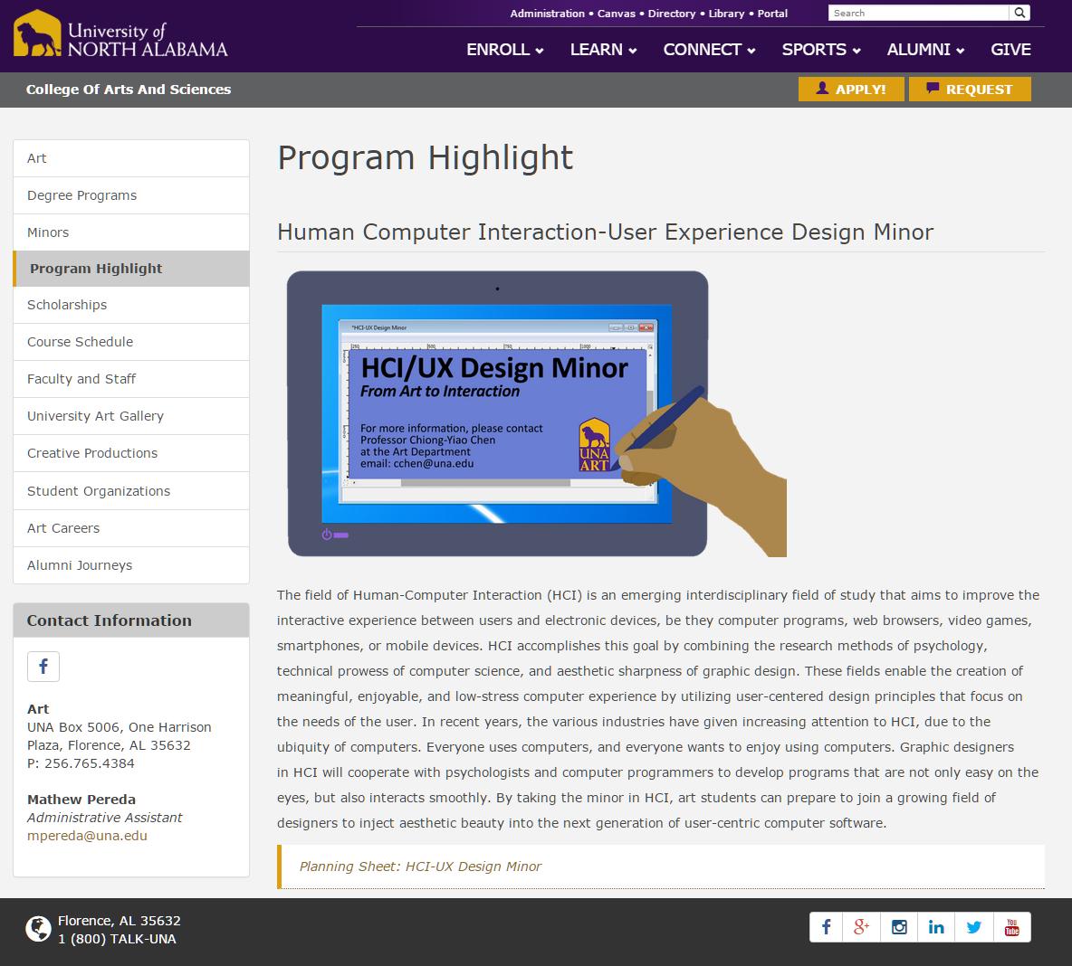 HCI program highlihgt