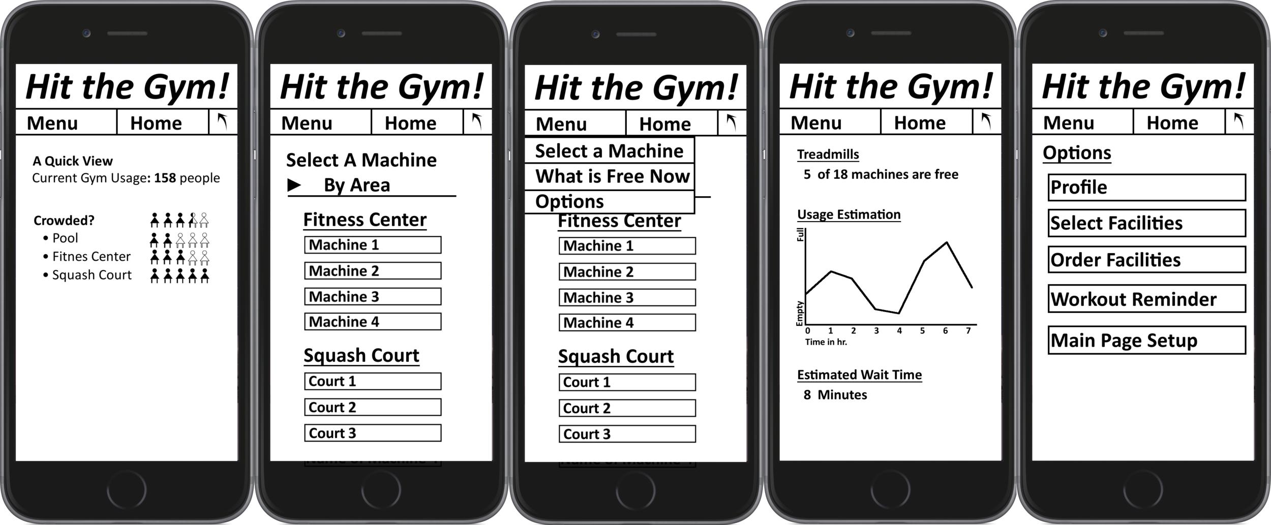 Early design alternative: mobile app