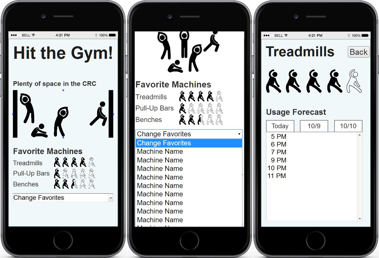 App prototype screenshot