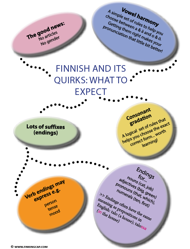 How to start learning Finnish? What is the Finnish language like? Here are some important features of Finnish that beginners may find useful to know.