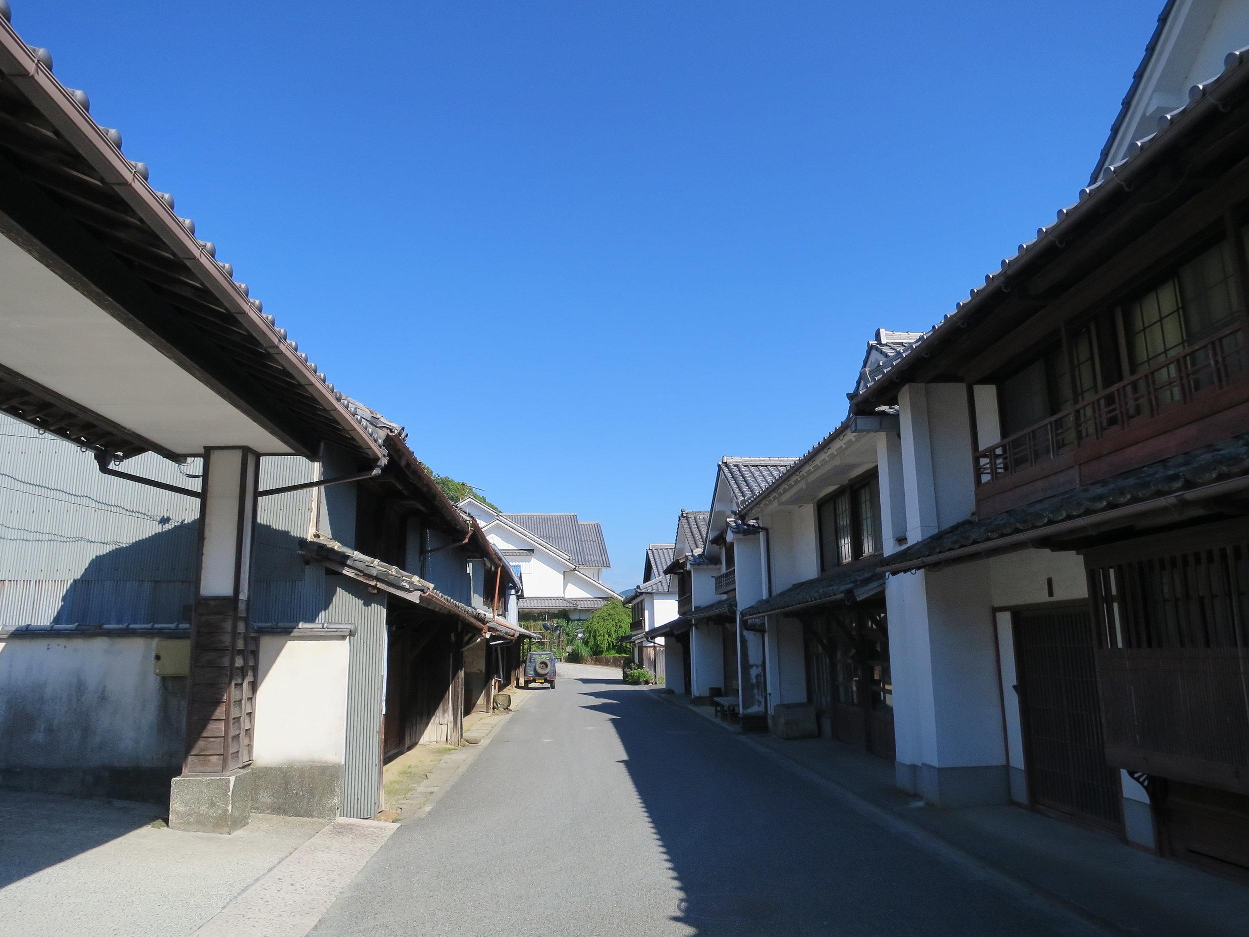 Old buildings from the Edo Period in Uwa-machi