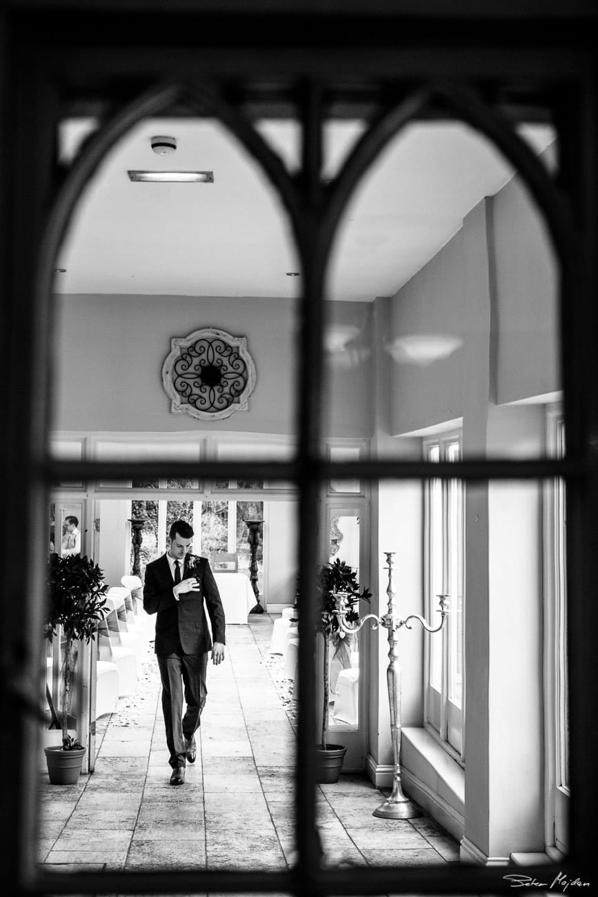 groom arriving to woodborough hall
