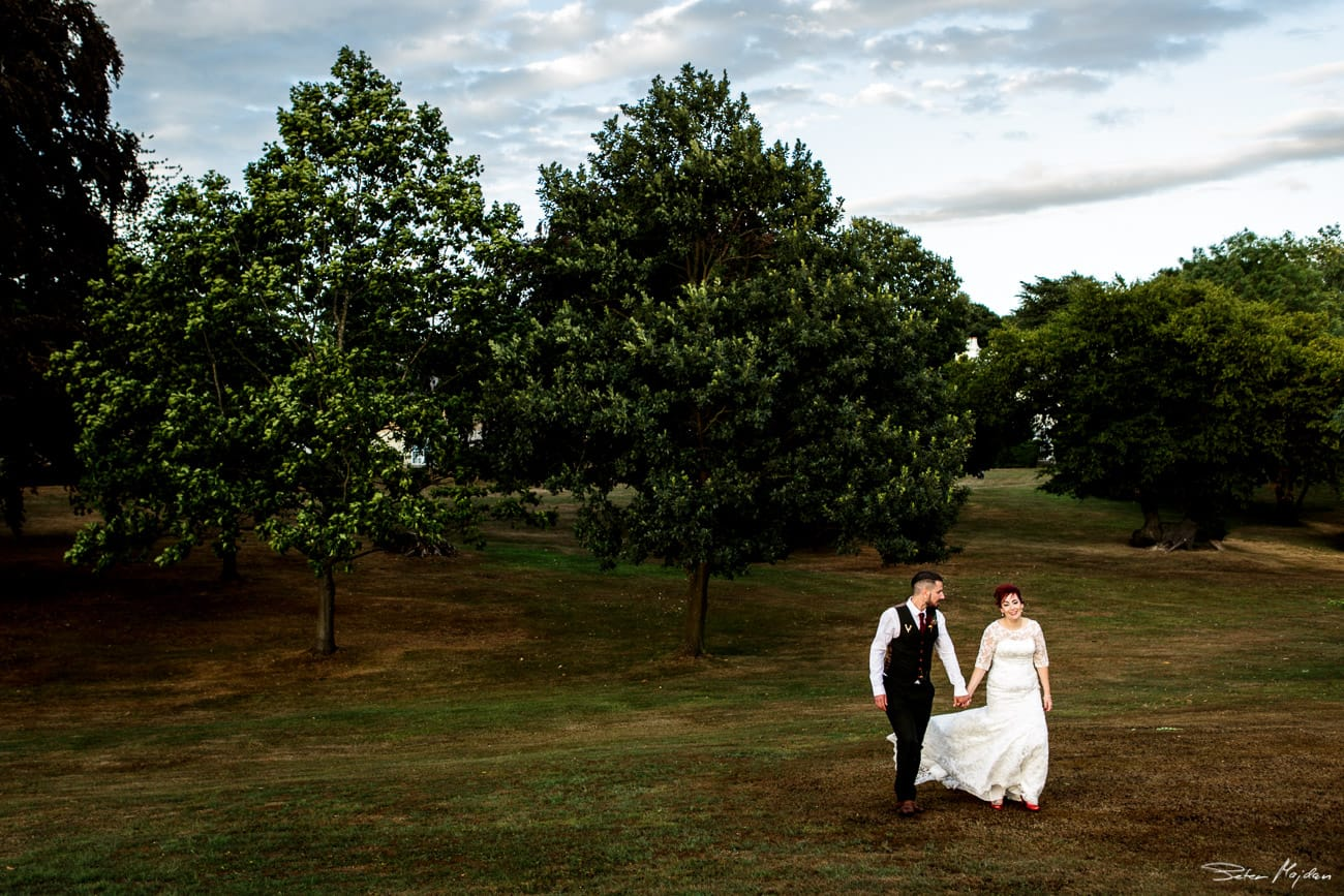 newlywed walking around easwood hall