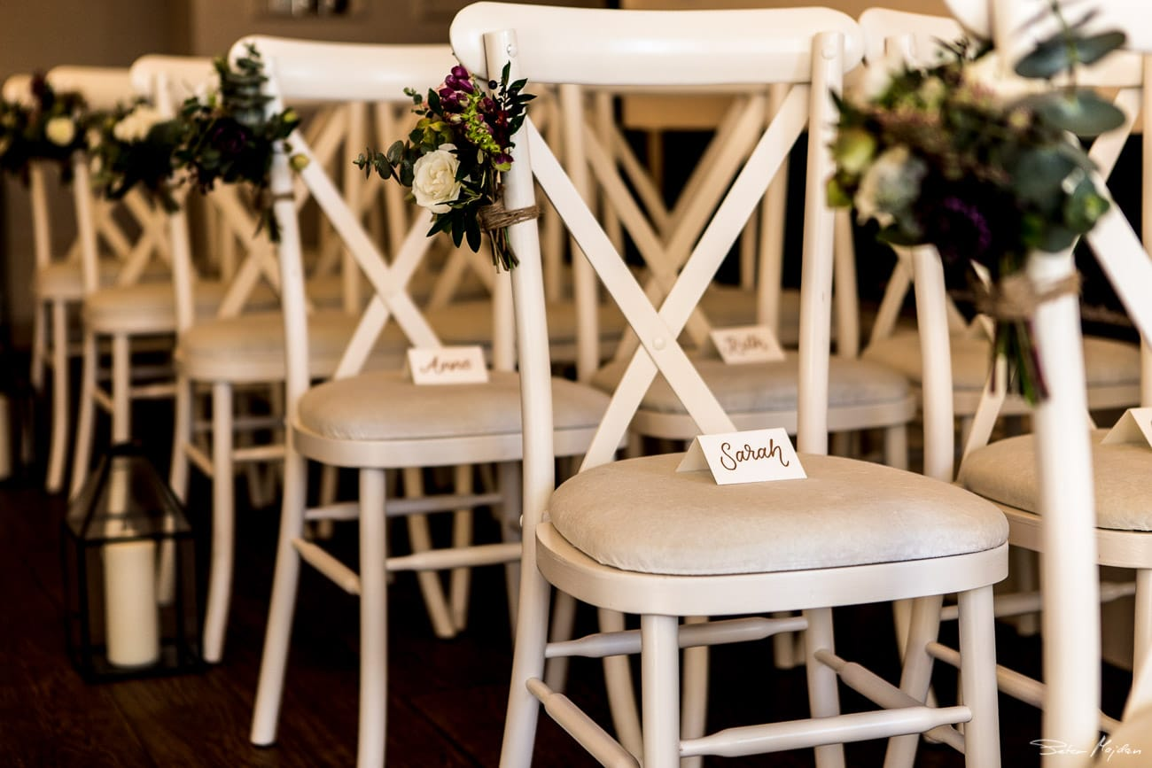 decorated wedding chairs