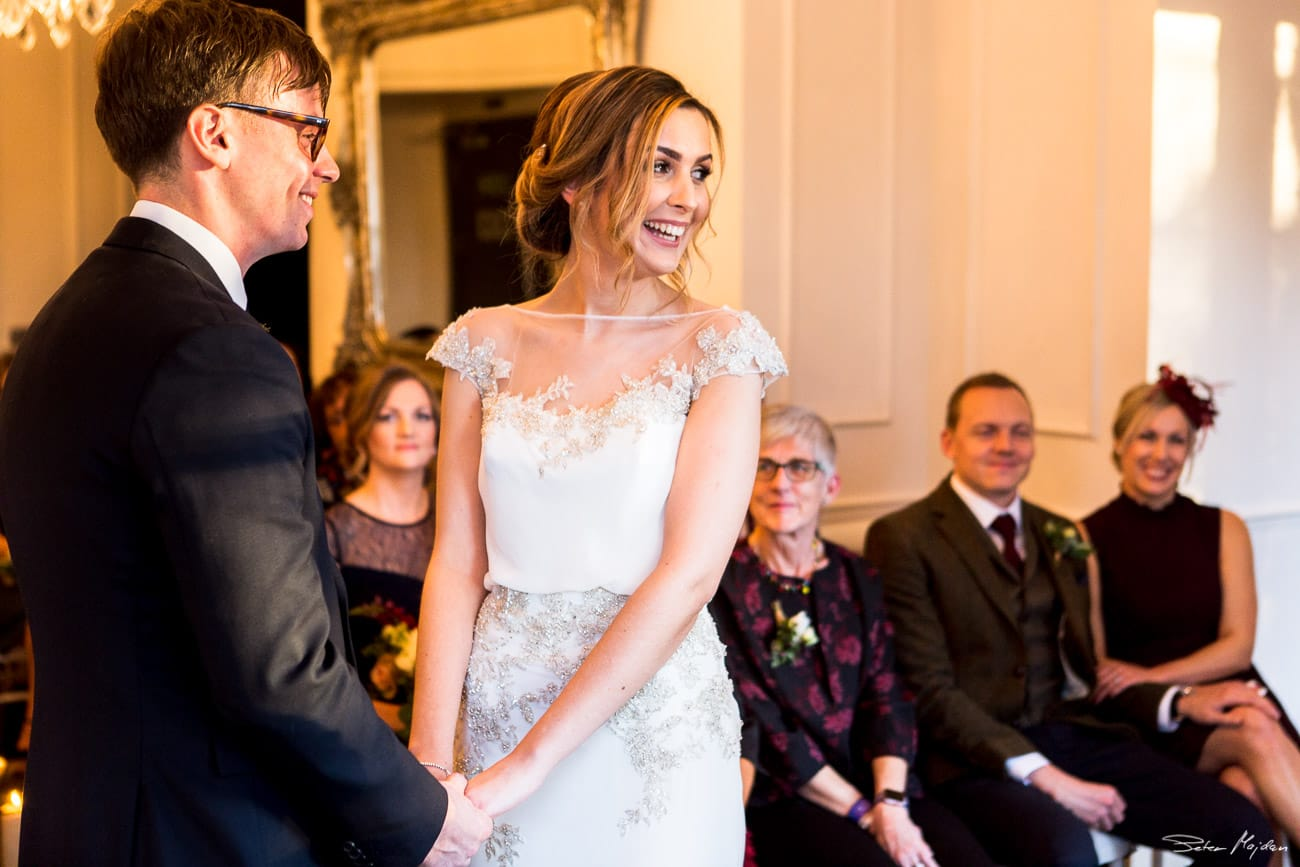 Eve and Tom during ceremony