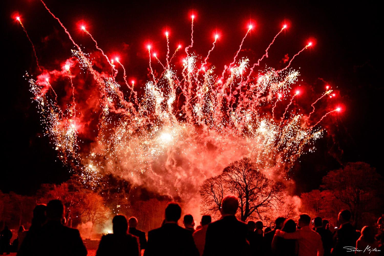 wedding fireworks at stubton hall
