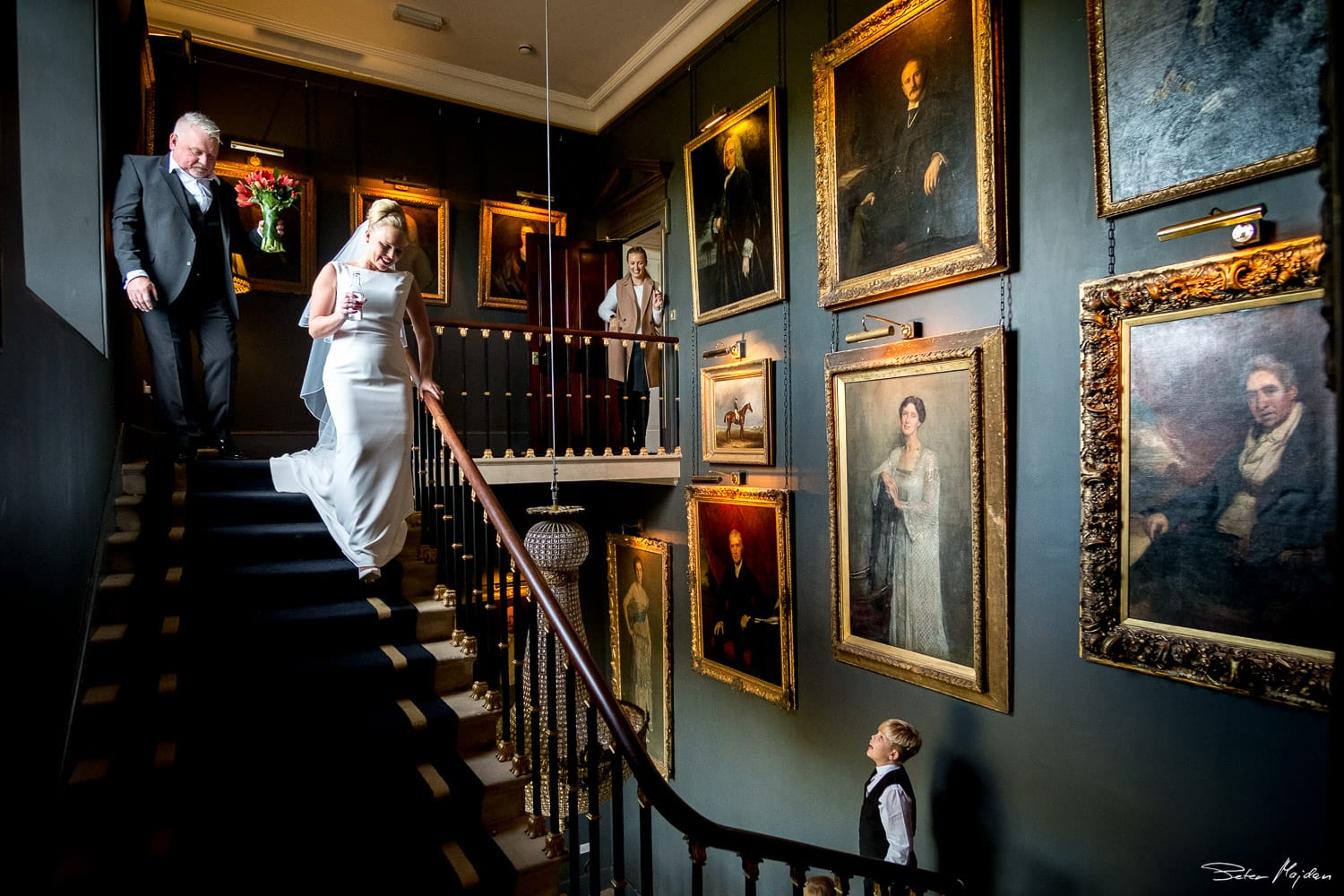 grand staircase in stubton hall