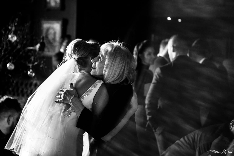 bride hugging her grandmother