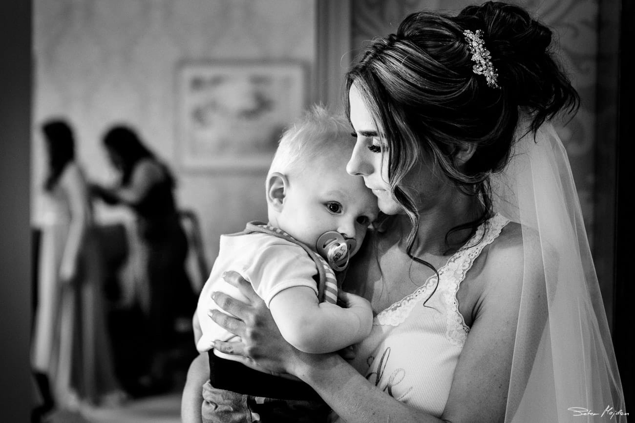bride and her son