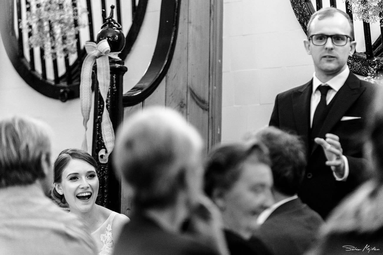 groom having speech