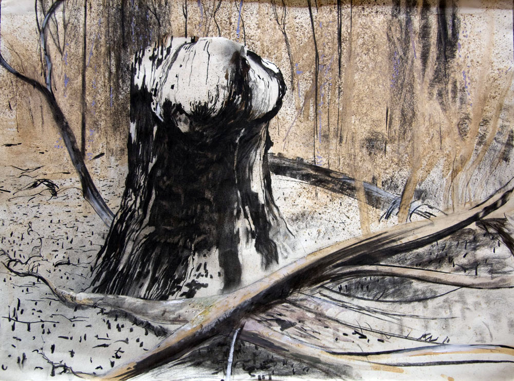 Major Stump - charcoal and ink - 1989 56x76cm