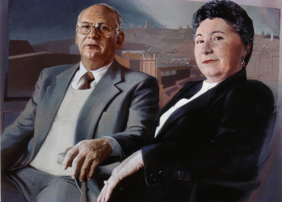 Mr and Mrs Gumina - 1982 90x150cm