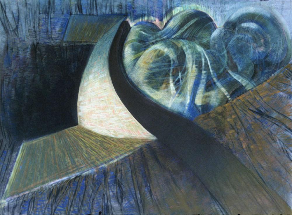 Dam - 60x70cm - circa 1990 - Pastel