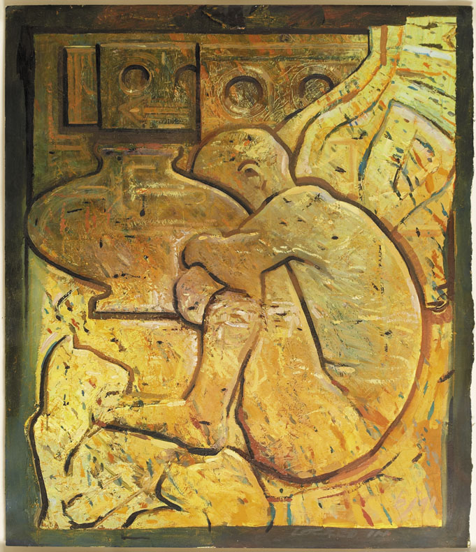 Dug Out Locked In - 64x56cm - 1991