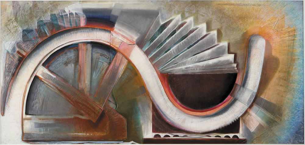Study for As Above So Below - 81.5x171cm - 1986