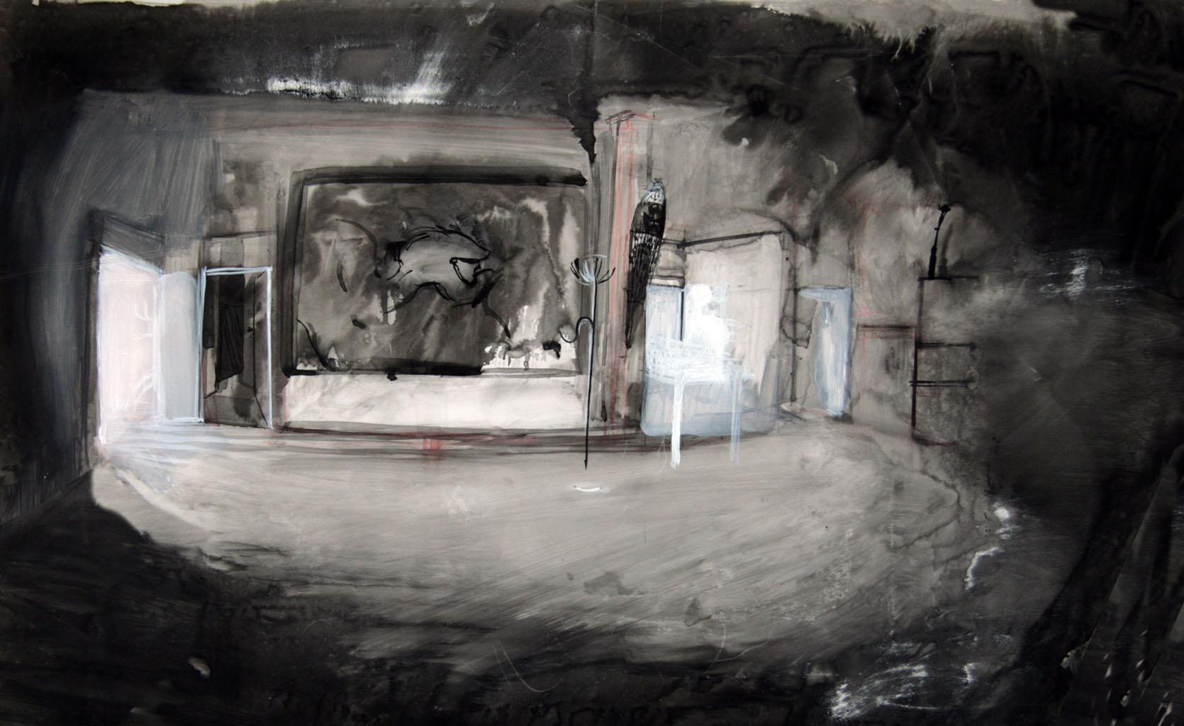 Interior Occiput - chinese ink