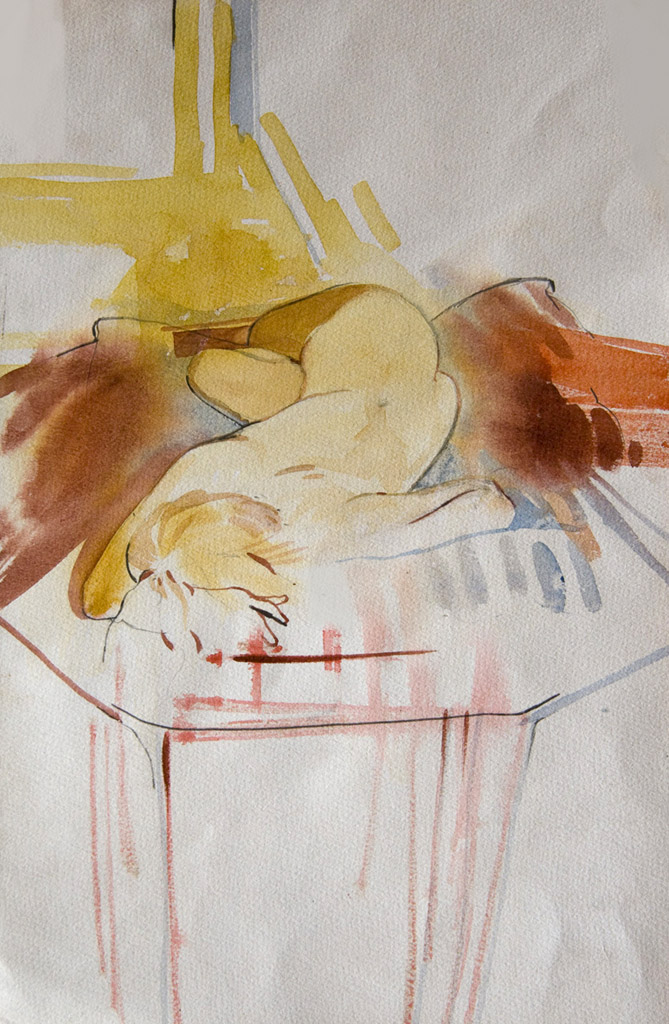 Untitled nude - watercolour