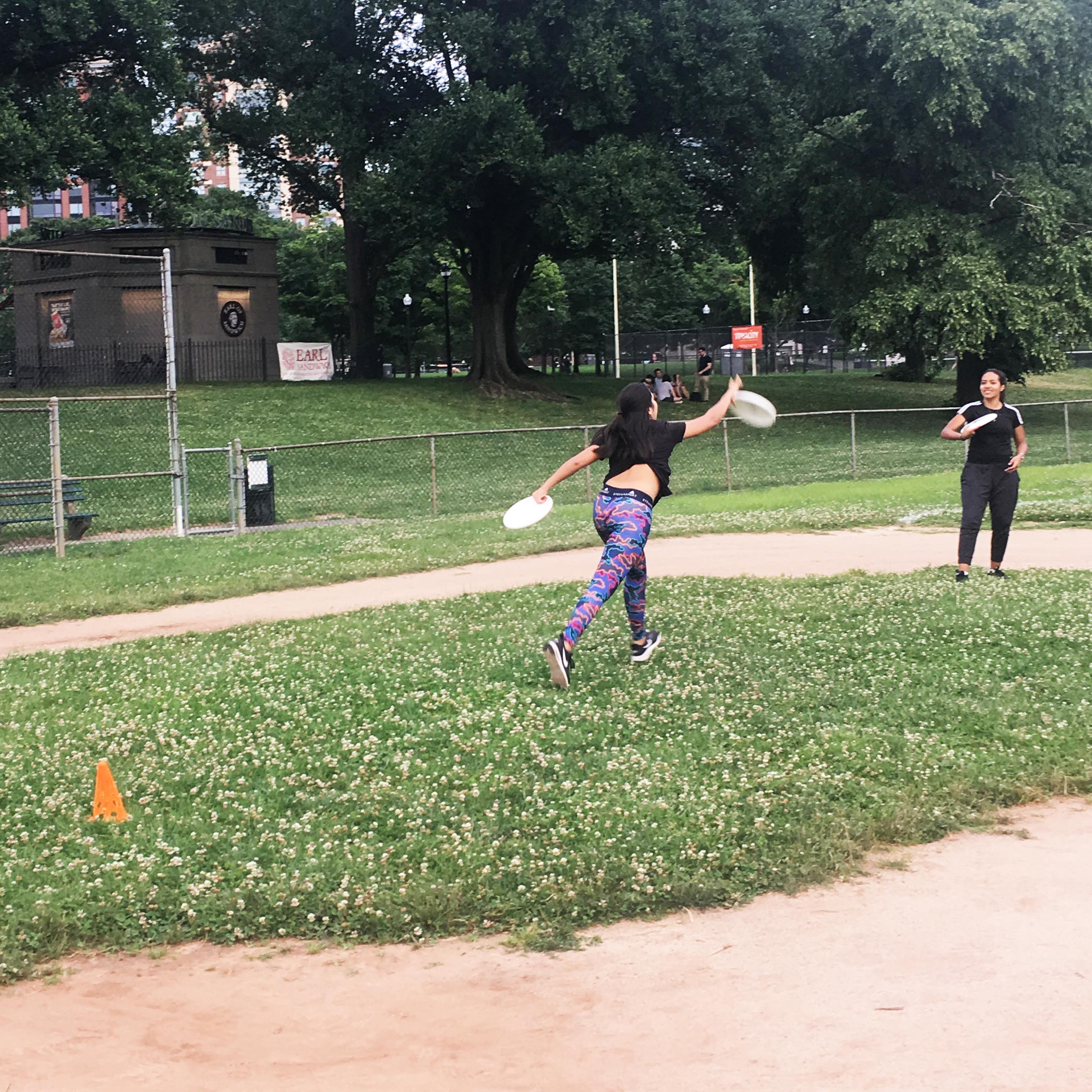 The innovators practicing Ultimate Frisbee at Boston Common