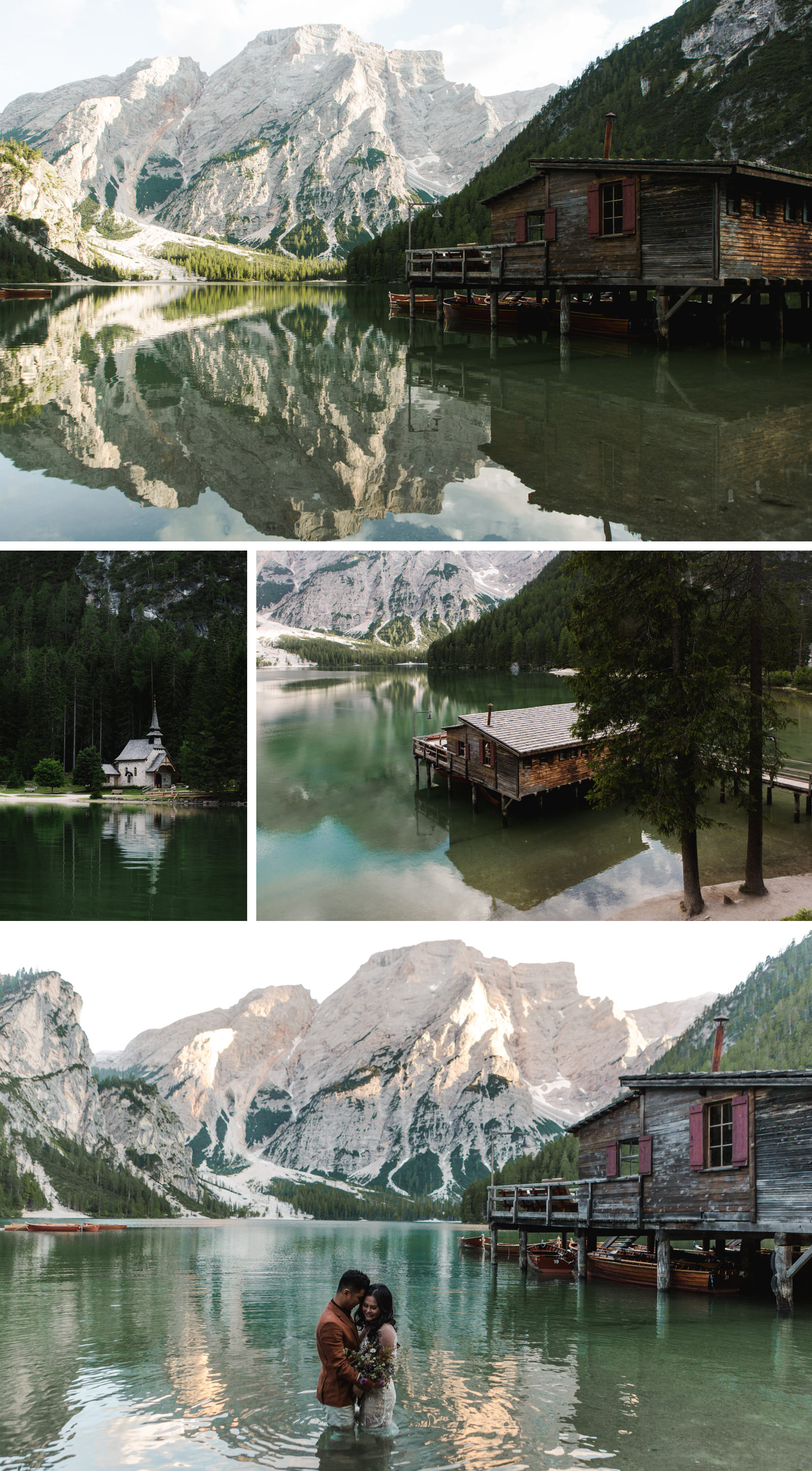 Lago di Braies Dolomites Wedding Shoot Fotomagoria 1.jpg