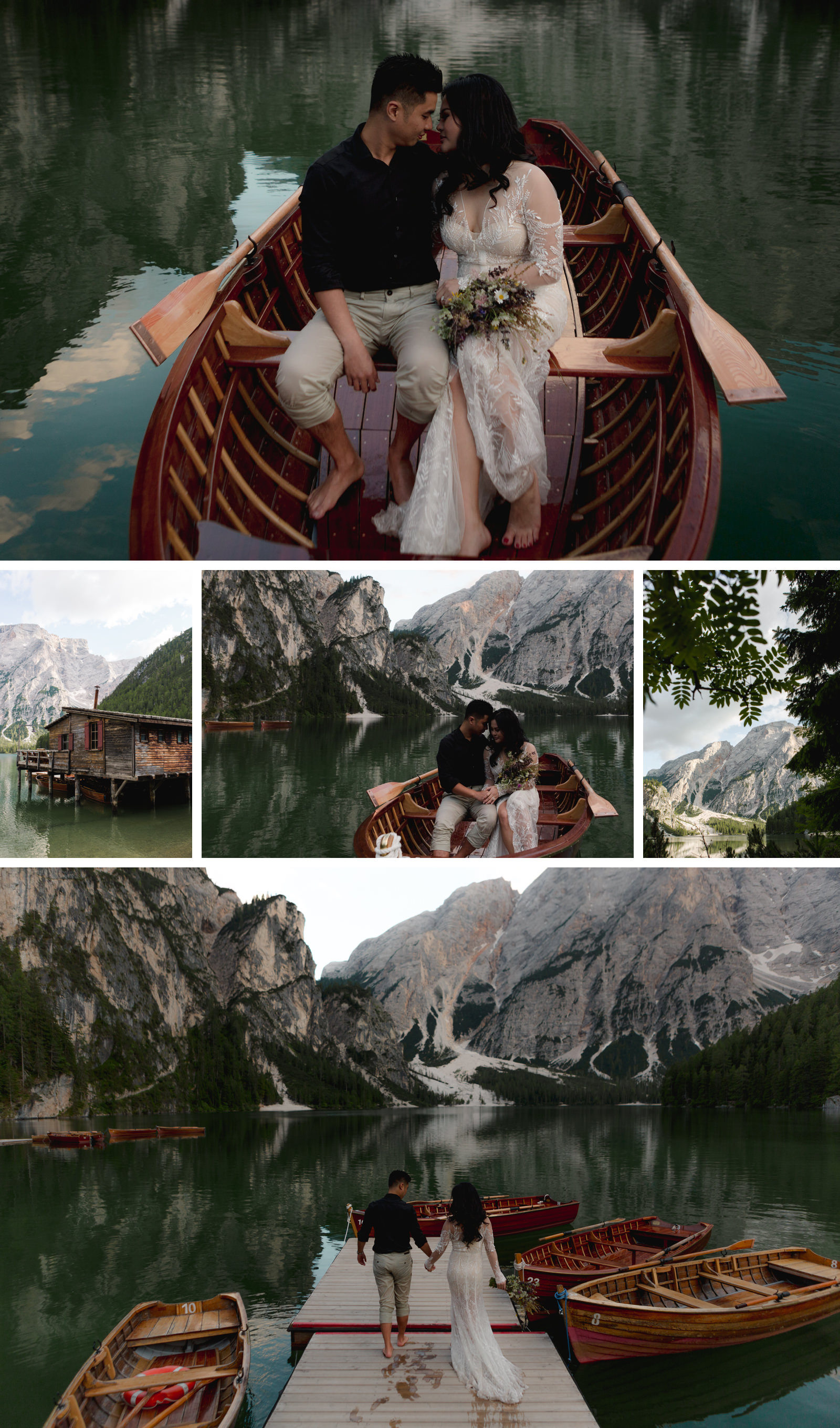 Lago di Braies Dolomites Wedding Shoot Fotomagoria 8.jpg