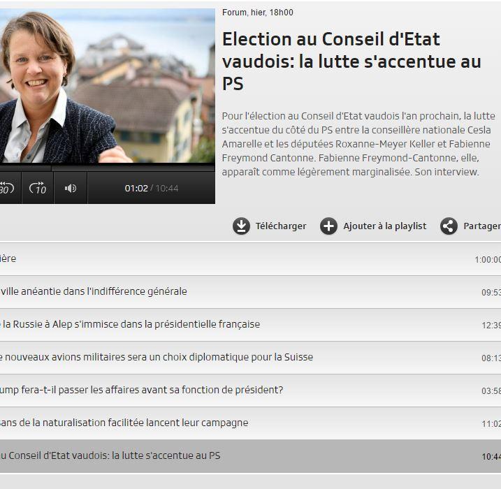 Copy of 2016-11-22 Forum RTS : Election au Conseil d'Etat vaudois