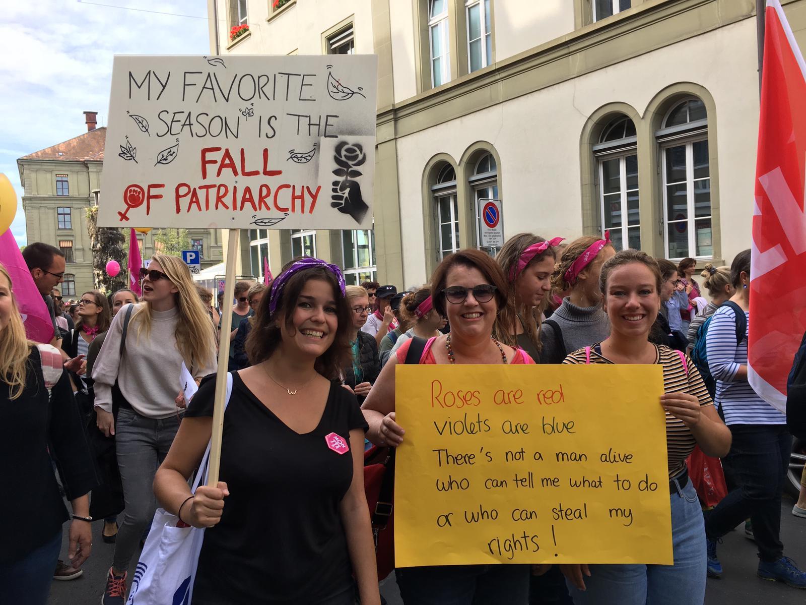 Manifestation nationale pour l'égalité salariale à Berne le 22 septembre 2018