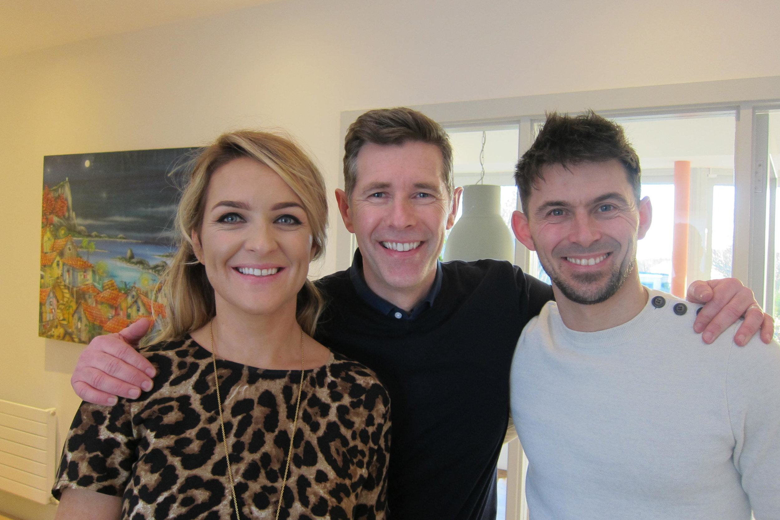 Hannah and James with Dermot Bannon, Room to Improve, COCO Television