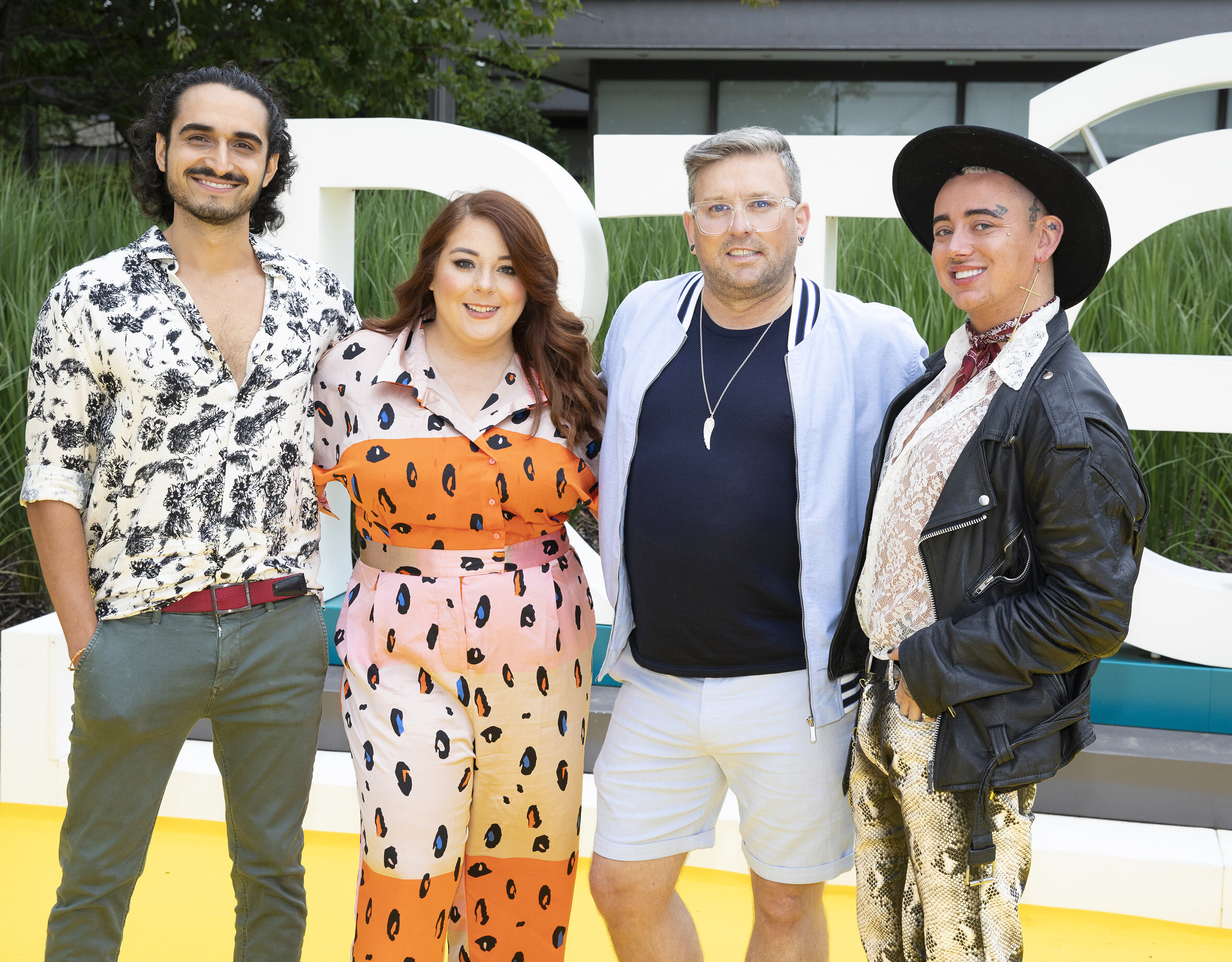 NO REPRO FEE RTÉ today announced a slate of new impactful Irish programming, star signings and a strong focus on climate as part of its upcoming new season. Pictured are: Yello Brick Road's Greg Xavier, Claire Fullam, Noel Sutton and Jordan Dunbar. Picture: Kinlan Photography.