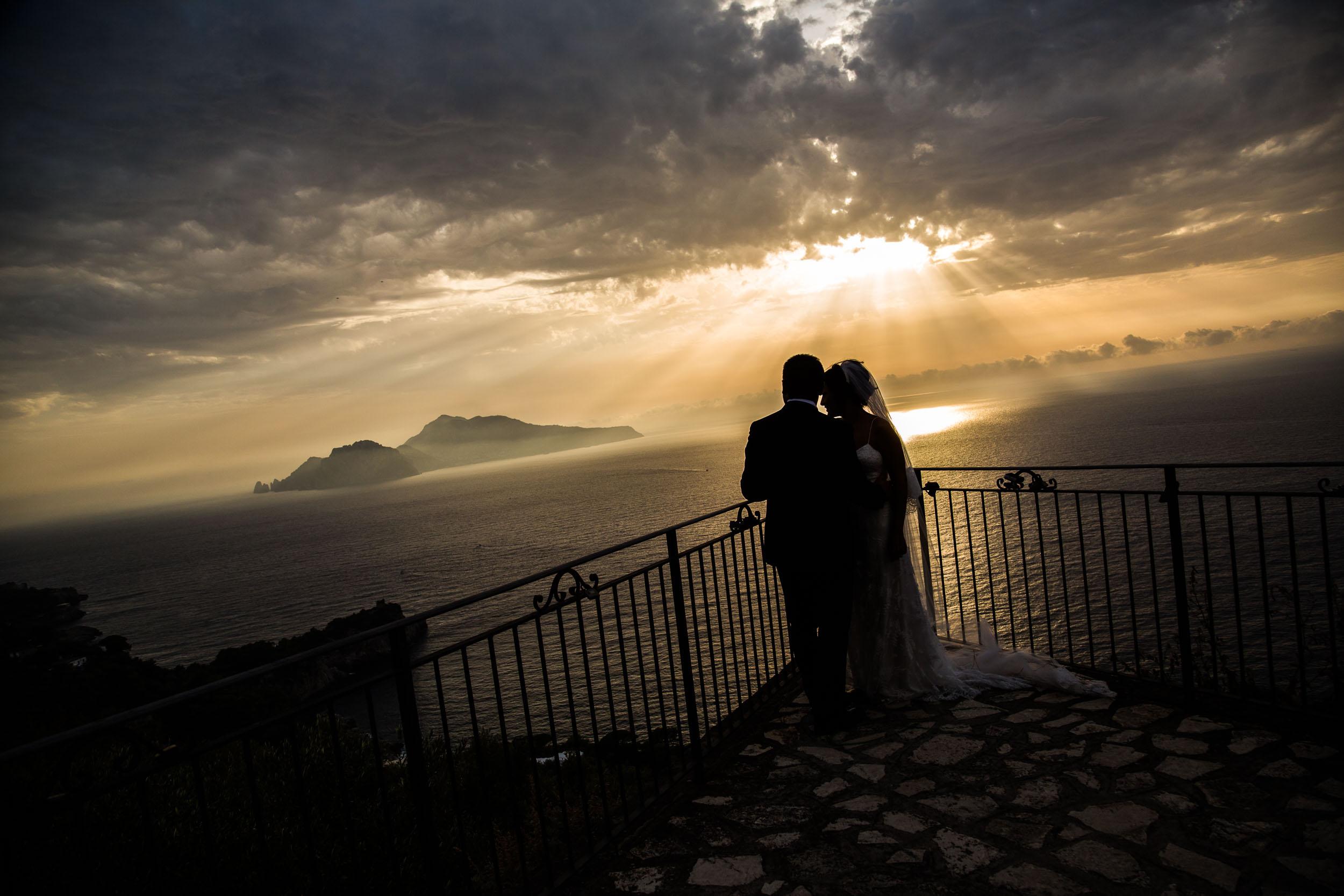Terrace overlooking Capri