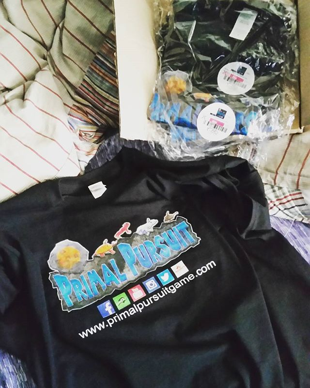 New Primal Pursuit shirts, mmm  #primalpursuitgame #merch