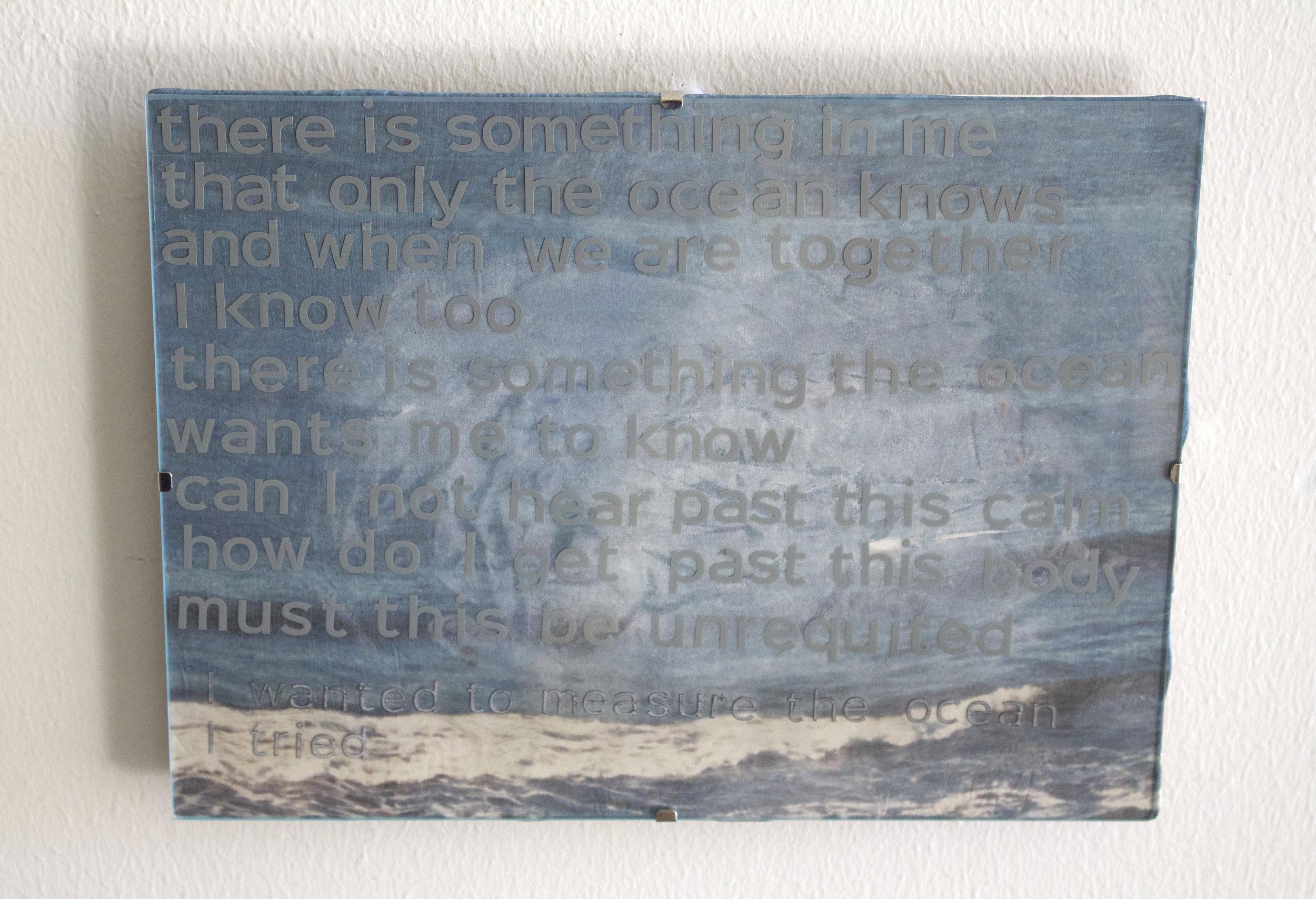 past this calm, past this body, the Atlantic Ocean