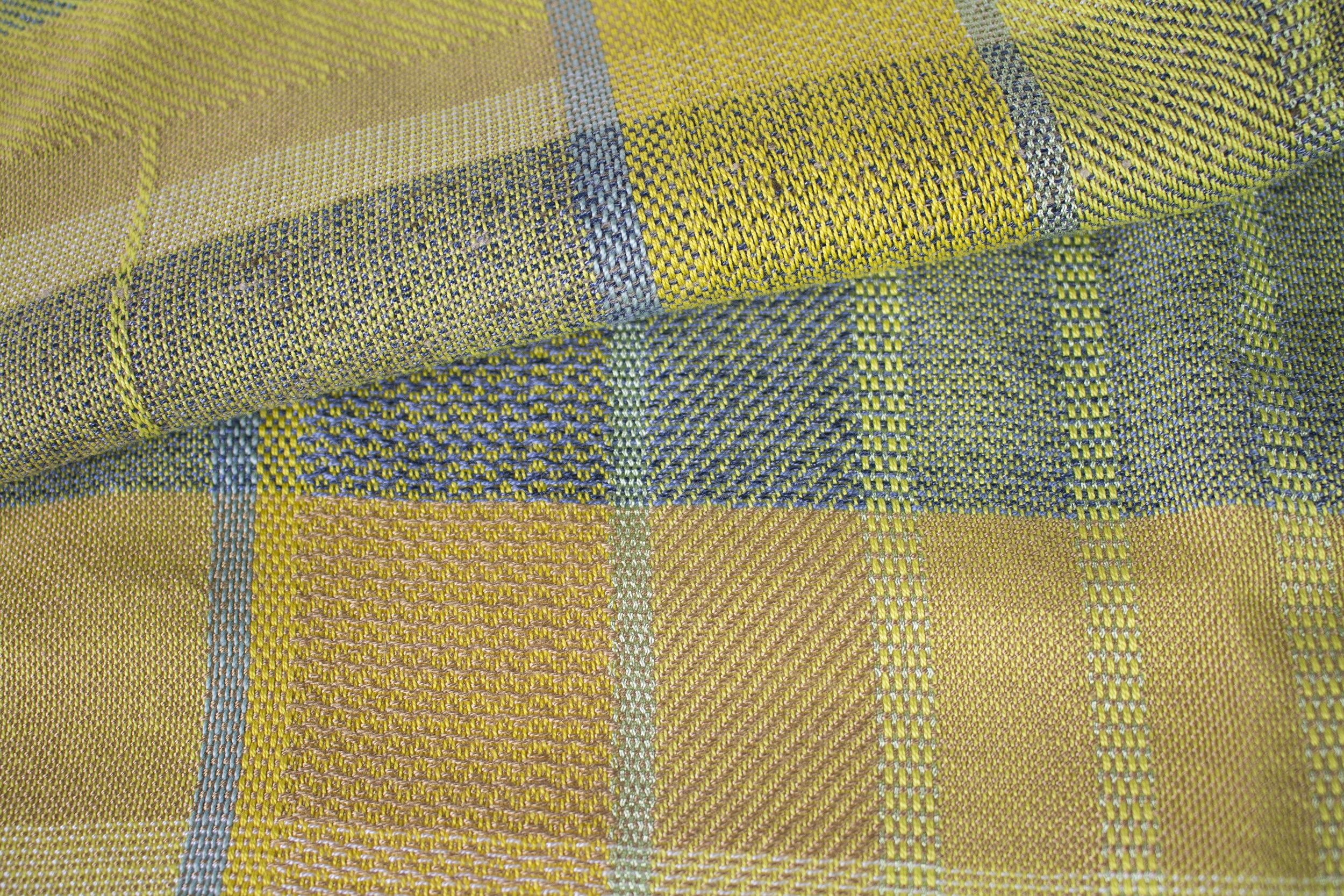 yellow with aqua