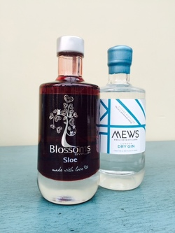 blossoms sloe syrup gin