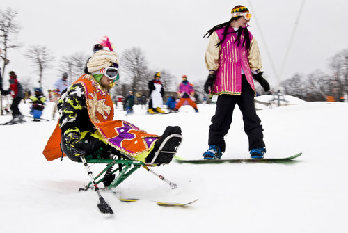 Mardi Gras at WAS is held every year in honor of the program's first student,  Vince Fiore.  Vince was an avid skier whose enthusiasm for sport, speed, and athletic endeavor never wavered. We miss him greatly, but it is his spirit of joyful determination that we remember and celebrate at each year's Mardi Gras.