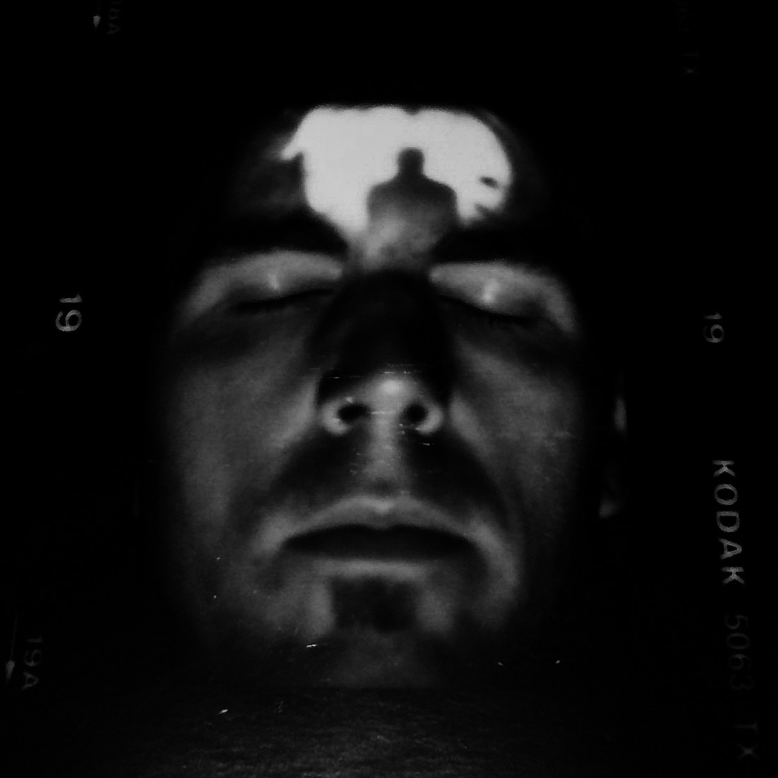 """3rd Eye""  self portrait taken in my mid thirties. Why couldn't I see the future?"