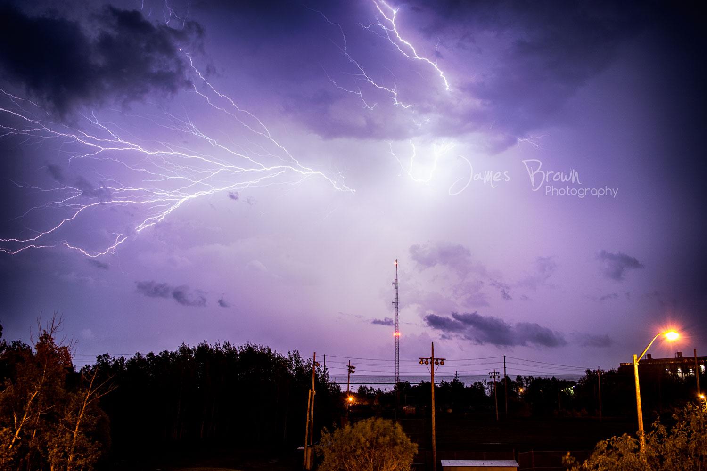 Lightning over Lake Superior in Thunder Bay
