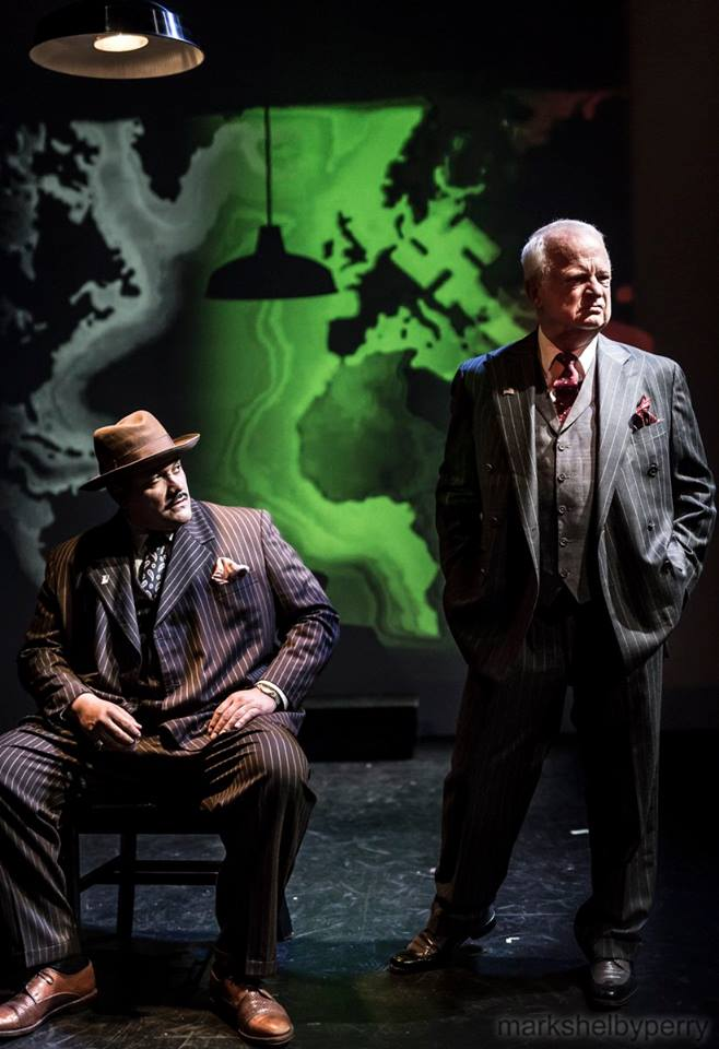 The Resistible Rise of Arturo Ui, Phoenix Theatre Ensemble, Costume Design Debbi Hobson, Lighting Design by Tony Mulanix, Video Design by Andrew Lazarow, photography by Mark Shelby Perry
